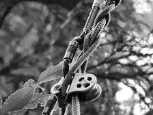 ロープアクセス 技術に使用するギアの写真